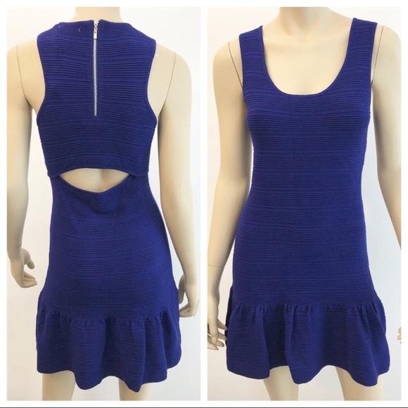 Sis Sis Dresses & Skirts - Sis Sis rib knit ruffle hem dress with cutout back